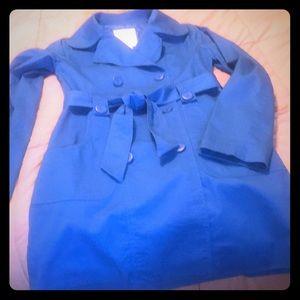 BB Dakota XS Brilliant Blue Trench Coat